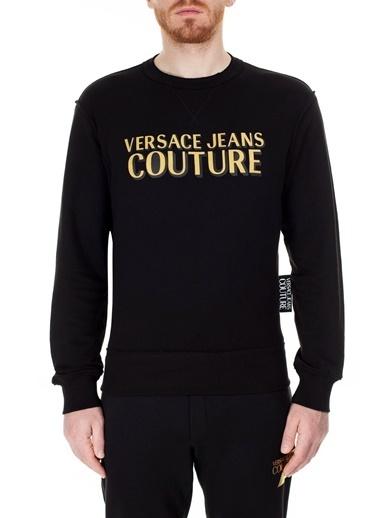 Versace Jeans  Slim Fit Sweat Erkek Sweat B7Gvb7Kj 30328 K42 Siyah